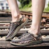 ขาย Youth Trend Collision Avoidance Men S Fashion Personality Comfortable And Soft Summer Weaving Sandals Intl Tike ถูก