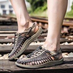ราคา Youth Trend Collision Avoidance Men S Fashion Personality Comfortable And Soft Summer Weaving Sandals Intl ใหม่ ถูก