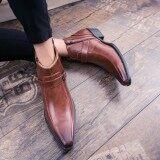 ขาย Yozo ผู้ชายรองเท้ามาร์ตินรองเท้าแฟชั่นอย่างเป็นทางการรองเท้าหนังเทียมกลอนสบายรองเท้าผู้ชายคุณภาพดี ผู้ค้าส่ง