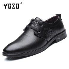 Yozo ผู้ชายรองเท้ารองเท้านุ่มด้านล่างนุ่มแฟชั่นรองเท้าหนังลำลองรองเท้าหนังเทียมปัก Trend ผู้ชายคุณภาพสูง นานาชาติ Yozo ถูก ใน จีน