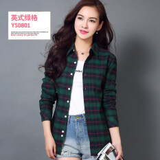 ขาย Lavro Hor เสื้อคอตตอนลายสก๊อตสไตล์สาวเกาหลี Ys 0801 Ys 0801 Unbranded Generic ใน ฮ่องกง
