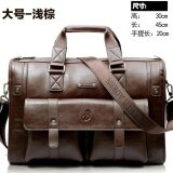 Yslmy Big Capacity Men Leather Business Bags Size 45 30 20Cm Color Light Brown Intl ใน จีน