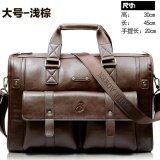 ขาย Yslmy Big Capacity Men Leather Business Bags Size 45 30 20Cm Color Light Brown Intl จีน ถูก
