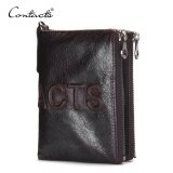 Yslmy Contact S 2016 New Brand Design Fashion Men Wallet Zipper Pureses Famous Brand Genuine Leather Short Wallets Clutch Coins Bags Intl ใน จีน