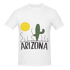 ราคา Yuandi Cartoon Cactus And Sun Mens Diy Round Neck White T Shirt Intl Diy เป็นต้นฉบับ