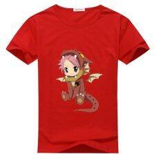 ราคา Yuandi ผู้ชาย S พิมพ์สีแดงสั้นเสื้อยืดที่กำหนดเอง Fairy หางนัทซึเสื้อยืด นานาชาติ เป็นต้นฉบับ