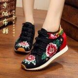 รองเท้าลำลองของผู้หญิง Lvtaixin ผ้าเย็บปักถักร้อย สีดำ 1 สีดำ 1 เป็นต้นฉบับ