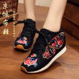 ราคา รองเท้าลำลองของผู้หญิง Lvtaixin ผ้าเย็บปักถักร้อย สีดำ 2 สีดำ 2 Unbranded Generic ฮ่องกง