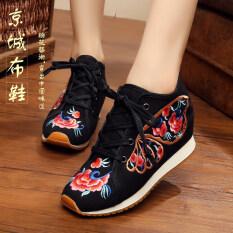 ซื้อ รองเท้าลำลองของผู้หญิง Lvtaixin ผ้าเย็บปักถักร้อย สีดำ 2 สีดำ 2 ออนไลน์ ฮ่องกง
