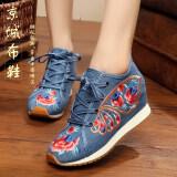 ซื้อ รองเท้าลำลองของผู้หญิง Lvtaixin ผ้าเย็บปักถักร้อย สีฟ้า 2 สีฟ้า 2 ใน ฮ่องกง