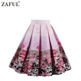 ขาย ซื้อ Zaful Woman Vintage Skirt Summer Fruit Floral Printing Zipper Side Elegant Style Design Retro Skirt Intl Tc จีน