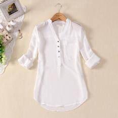 ซื้อ Zanzea ใหม่สตรีเสื้อเชิ้ตตัวหลวมสบายผ้าชีฟองขนาด 8 ที่ 26เสื้อเสื้อยืดเสื้อแขนเสื้อยาวสาวขาว นานาชาติ ถูก