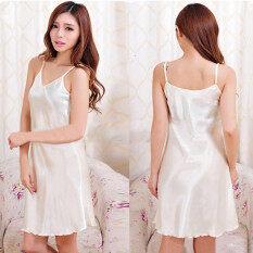 ราคา Zanzea แฟชั่นสาวไซส์พิเศษชุดนอนเซ็กซี่ชุดชั้นในชุดนอนชุดนอนสวมเสื้อคลุมไหมแต่งตัวให้ใครขาว เป็นต้นฉบับ