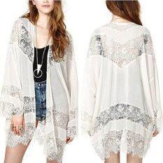 ราคา Zanzea ลูกไม้ชีฟอง Kimono เสื้อสเวตเตอร์ถัก ขาว ใหม่ ถูก