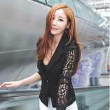 ขาย Zanzea ลูกไม้โครเชต์สตรีสูทเสื้อนอกเบลเซอร์หนึ่งประกบปุ่มสีดำ ใน จีน