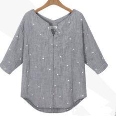 ซื้อ Zanzea พิมพ์ดาวจรผู้หญิง V คอเสื้อ ใน แองโกลา
