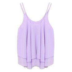 ซื้อ Zanzea Women Chiffon Loose Vest Top Purple ออนไลน์ ถูก