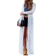 ราคา Zanzea Women Lace Floral Boho Cardigan Jacket Coat Kimono Kaftan White ออนไลน์ แองโกลา