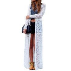 ขาย Zanzea ลูกไม้ลายผู้หญิง Boho เสื้อแจ็กเก็ตเสื้อนอก Kimono Kaftannขาว ออนไลน์