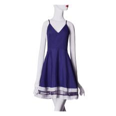 ราคา Zanzea Women V Neck Stripe Mini Dress 4Xl Blue ใน Thailand