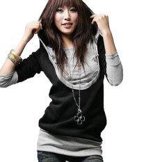 ส่วนลด Zanzea Womens Casual Long Sleeve Hooded Top Sweatshirt Blouse Black Intl Zanzea ใน จีน