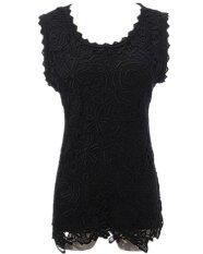 ราคา Zanzea ผู้หญิงปักเสื้อกั๊กเสื้อสีดำ