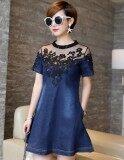 ราคา ชุดเดรสยีนส์แขนสั้น เดรสกระโปรง Zashion Denim Dress Collection 2 As Shown ใหม่