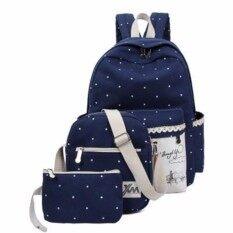 โปรโมชั่น Zero Fashion กระเป๋าเป้สะพายหลัง 3 ใบ Backpack Set 3 Pcs กรุงเทพมหานคร