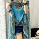 ราคา Zh Ladies Long Sun Clothing Thin Coat Long Sleeve Sunscreen Light Blue Intl ถูก