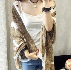 ซื้อ Zh Ladies Long Sun Clothing Thin Coat Long Sleeve Sunscreen White Intl