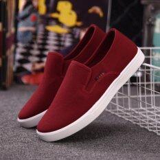 ราคา Zh เก่าปักกิ่งสะดวกสบายรองเท้าผ้าใบลำลอง สีแดง สนามบินนานาชาติ Unbranded Generic