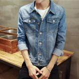 ราคา Zh Shopping   Men S Fashion Cowboy Coat Of Cultivate One S Morality Blue Intl ออนไลน์ จีน