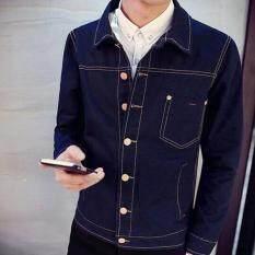 ขาย Zh Shopping   Men S Fashion Cowboy Coat Of Cultivate One S Morality Navy Blue Intl ใหม่