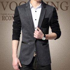ทบทวน Zh Shopping Men S Fashion Leisure Suit Grey Intl