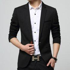 ซื้อ Zh Shopping Men S Korean Youth Small Suit Coat Of Cultivate One S Morality Black Intl จีน