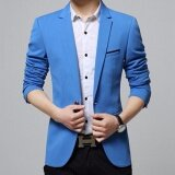 ซื้อ Zh Shopping Men S Korean Youth Small Suit Coat Of Cultivate One S Morality Blue Intl ถูก