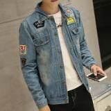 ซื้อ Zh Shopping Men S Leisure Fashion Cowboy Coat Blue Intl ออนไลน์