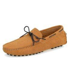 ขาย Zhaizubuluo Men S Flat Shoes Free Style Breathable Slip Ons Driving Shoes Lx 9388 Brown Zhaizubuluo ใน Thailand