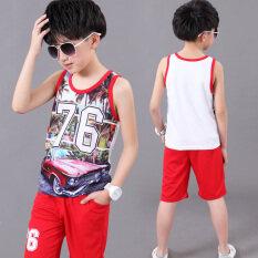 ราคา เสื้อกั๊กเด็กเสื้อกั๊กใหญ่เด็กชายฤดูร้อน 6352 สีแดง ใน ฮ่องกง