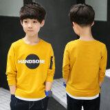 โปรโมชั่น Zhongshan University เด็กเกาหลีแขนยาวใหม่เสื้อยืด 17Q370 สีเหลือง ฮ่องกง