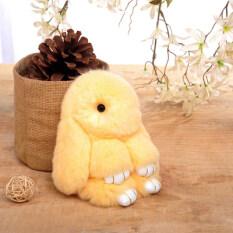 ราคา Zhuangsitu เร็กซ์ขนกระต่ายพวงกุญแจรถ สีเหลือง
