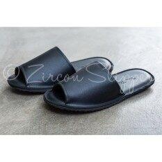 ขาย Bl 001 Zircon Slippers รองเท้าสลิปเปอร์ ใช้ในอาคาร หนังเทียม สีดำ ผู้ค้าส่ง