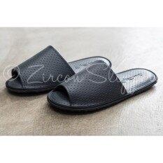 ขาย Bl 005 Zircon Slippers รองเท้าสลิปเปอร์ ใช้ในอาคาร หนังเทียม รุ่นซูซูกิ สีดำ