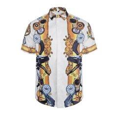 ขาย Zmgang ผู้ชายสั้นแขนเสื้อดอกไม้เสื้อฮาวาย นานาชาติ ราคาถูกที่สุด