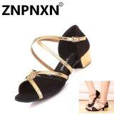 ทบทวน Znpnxn เด็กรองเท้าเต้นรำภาษาละตินรองเท้าหนังนุ่มรองเท้าเต้นรำหญิงระบายอากาศได้รองเท้าเด็กรองเท้าเต้นรำ สีดำ สนามบินนานาชาติ