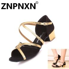 ราคา Znpnxn เด็กรองเท้าเต้นรำภาษาละตินรองเท้าหนังนุ่มรองเท้าเต้นรำหญิงระบายอากาศได้รองเท้าเด็กรองเท้าเต้นรำ สีดำ สนามบินนานาชาติ Znpnxn ออนไลน์