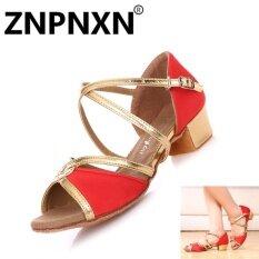 ราคา Znpnxn เด็กรองเท้าเต้นรำภาษาละตินรองเท้าหนังนุ่มรองเท้าเต้นรำหญิงระบายอากาศได้รองเท้าเด็กรองเท้าเต้นรำ สีแดง สนามบินนานาชาติ ราคาถูกที่สุด