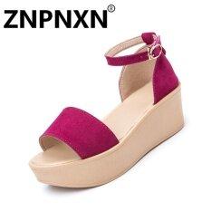 ขาย ซื้อ Znpnxn Fashion Shoes New Breathable Ladies Sandals Thick Bottom Muffin Fashion Shoes(Rose) Intl