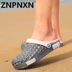 Znpnxn Fashionable Men S Shoes Comfortable Home Sandals Casual Beach Shoes Grey) Intl จีน