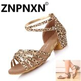 ขาย ซื้อ Znpnxn สาวละตินรองเท้าเต้นรำกับเด็กรองเท้าส้นเตี้ย สีน้ำตาล สนามบินนานาชาติ ใน จีน